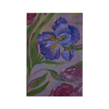 Pastel Purples Rectangle Magnet