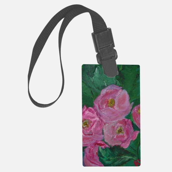 Pink Bouquet Luggage Tag
