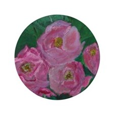 "Pink Bouquet 3.5"" Button"