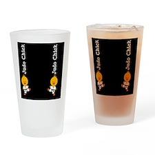 JudoChickFlipFlopsCP Drinking Glass