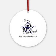 DONT TREAD STAR Round Ornament