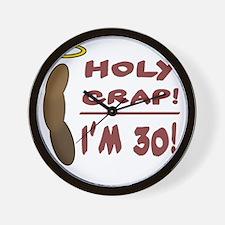 HolyCrap30 Wall Clock