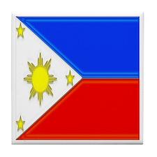 Philippine Flag Tile Coaster