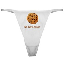 Me Want Cookie Brown Classic Thong