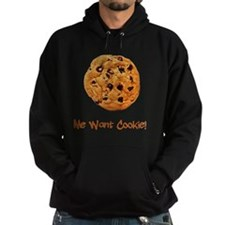 Me Want Cookie Brown Hoodie
