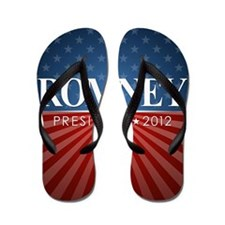button Romney Stars and Stripes Flip Flops