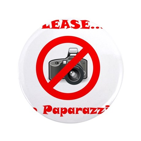 "No Paparazzi Red 3.5"" Button"