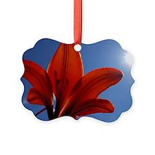 Sunlit Tiger Lily Ornament