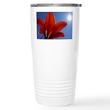 Sunlit Tiger Lily Travel Mug