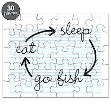 Eat sleep fishing Puzzle