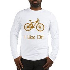Mountain Bike Dirt Brown Long Sleeve T-Shirt