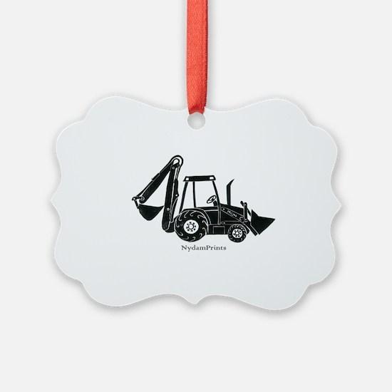 Backhoe Ornament