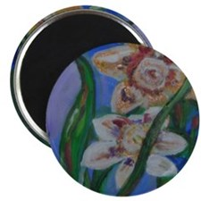 Gold Flowers Magnet