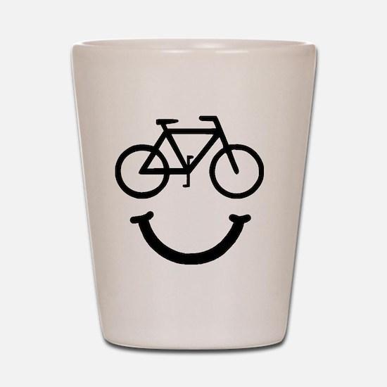 Smile Bike Black Shot Glass