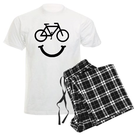 Smile Bike Black Men's Light Pajamas
