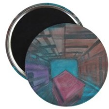 Abstract Cube Magnet