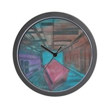 Abstract Cube Wall Clock