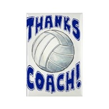 ThxVolleybCoach Rectangle Magnet
