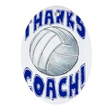 ThxVolleybCoach Oval Ornament
