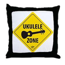 Ukulele Zone Throw Pillow