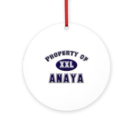 Property of anaya Ornament (Round)