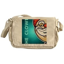 18x13-6_clown_txt_bg01 Messenger Bag