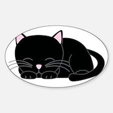 sleepyblack Sticker (Oval)