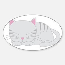sleepygray Sticker (Oval)