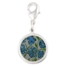 Baby Blues Silver Round Charm