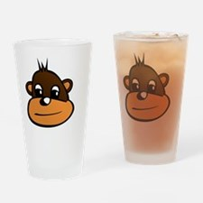 Monkey Brown Drinking Glass