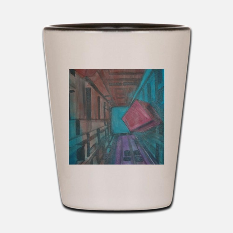 Abstract Cube Shot Glass
