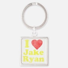I Love Jake Ryan Square Keychain