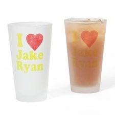 I Love Jake Ryan Drinking Glass