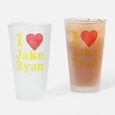 I Love Jake Ryan Drinking Glass