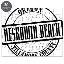 Neskowin Beach Title W Puzzle