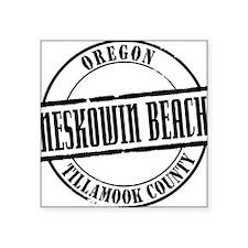 "Neskowin Beach Title W Square Sticker 3"" x 3"""