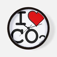 CO2_big_blk Wall Clock