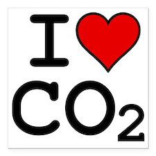 "CO2_big_blk Square Car Magnet 3"" x 3"""
