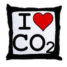 CO2_big_blk Throw Pillow