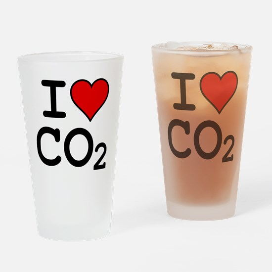 CO2_big_blk Drinking Glass