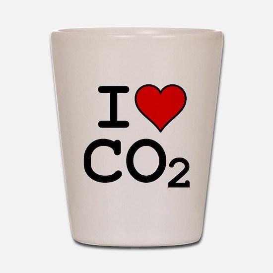 CO2_big_blk Shot Glass