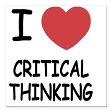 "CRITICAL_THINKING Square Car Magnet 3"" x 3"""