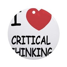 CRITICAL_THINKING Round Ornament