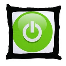 Power Green Throw Pillow