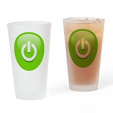 Power Green Drinking Glass