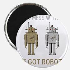 Robot Mess Brown Grey Magnet