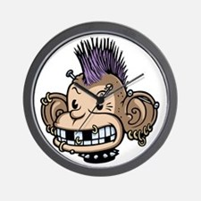 punk-monkey-T Wall Clock