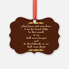 John 6:35 Wheat Picture Ornament
