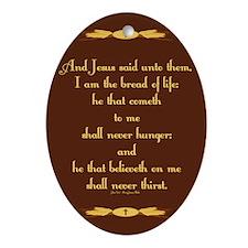 John 6:35 Wheat Ornament (Oval)