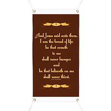 John 6:35 Wheat Banner